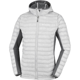 Columbia Powder Lite Light Chaqueta con capucha Hombre, cool grey heather
